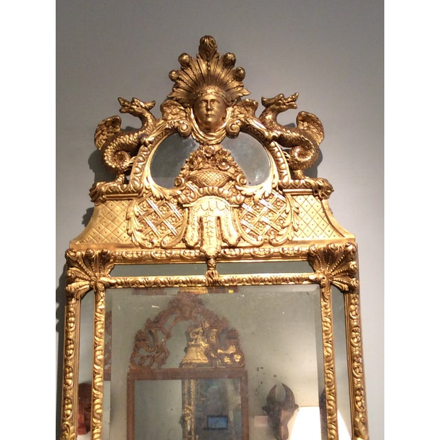 Image of Antique Early 18th Century French Mirror
