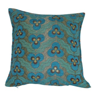 Turqoise Tassled Textile Pillow
