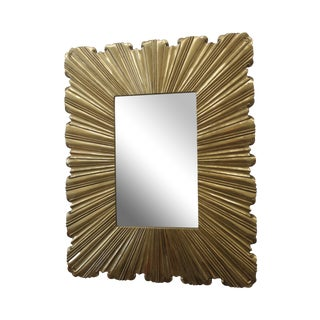 Folded Pattern Mirror in Brass