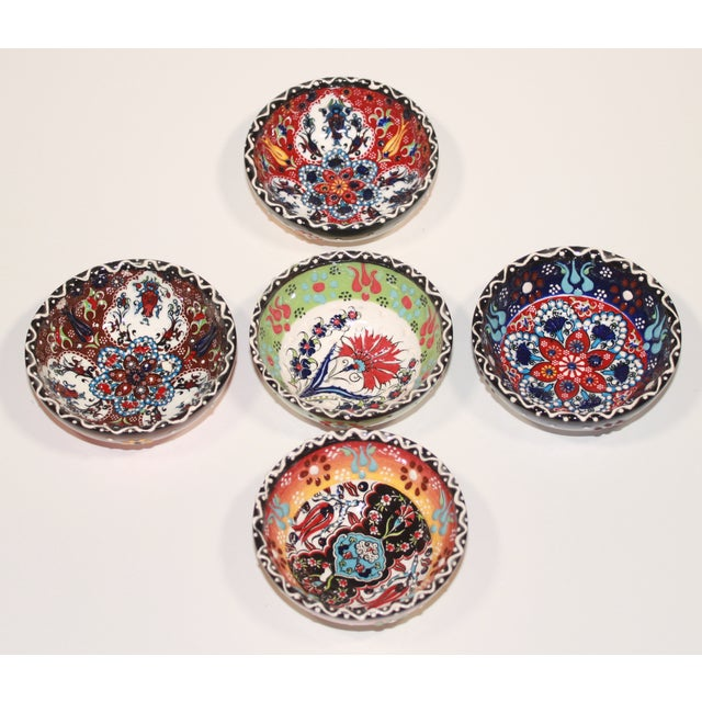 Turkish Tile Bowls - Set of 5 - Image 2 of 6