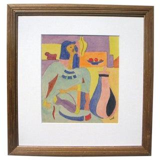 1960s Cubist Figure