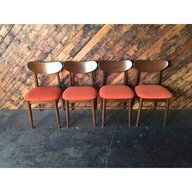 mid century danish style dining chairs set of 4 chairish