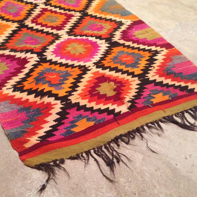 Vintage Turkish Kilim Runner - 4' X 9' - Image 3 of 7
