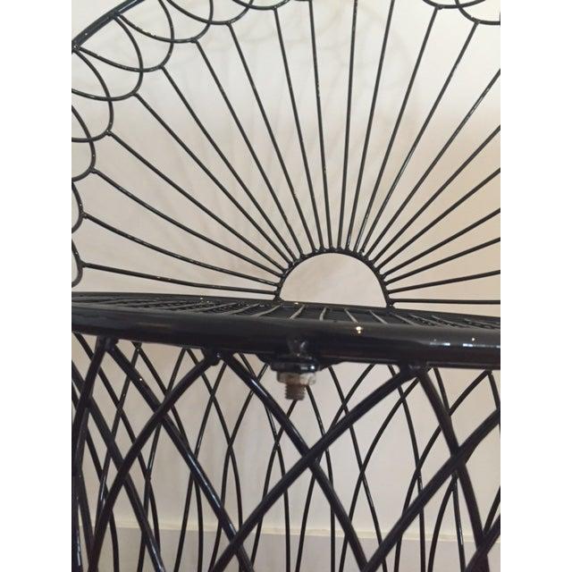 Vintage BoHo Metal Peacock Chair - Image 5 of 6