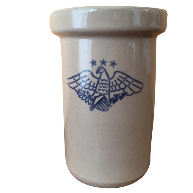 Vintage American Eagle Salt Glaze Crock - Image 1 of 9