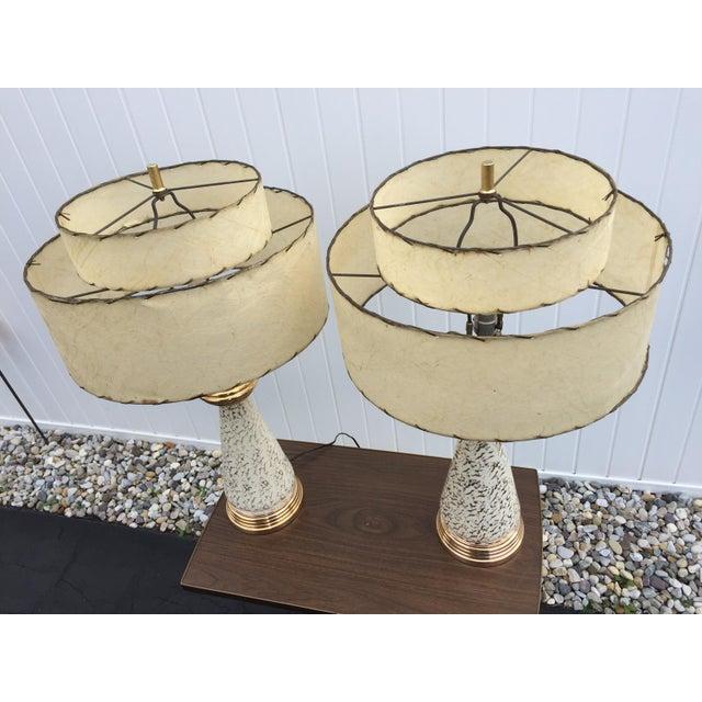Mid century atomic eames era lamps fiberglass shades for Eames lampe