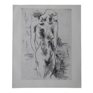 Vintage Lithograph Nude by Georges Braque