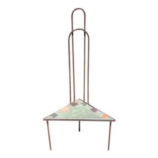 Designer High Back Cast Iron Stone Corner Chair