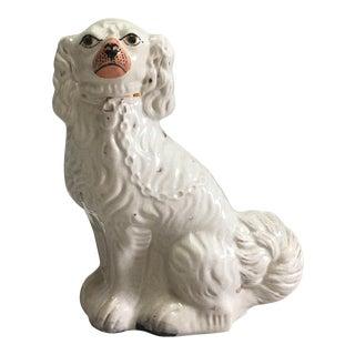 Antique White Staffordshire Dog Figurine