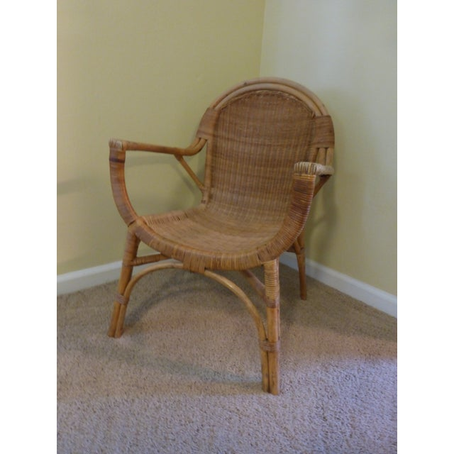 Vintage Rattan & Bamboo Chair - Image 2 of 8