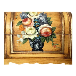 Hand Painted Floral Treasure Chest