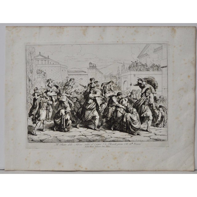 """Bartolomeo Pinelli Engraving """"The Sabine Rats Under the Rein of Romulus"""" c.1816 - Image 2 of 8"""