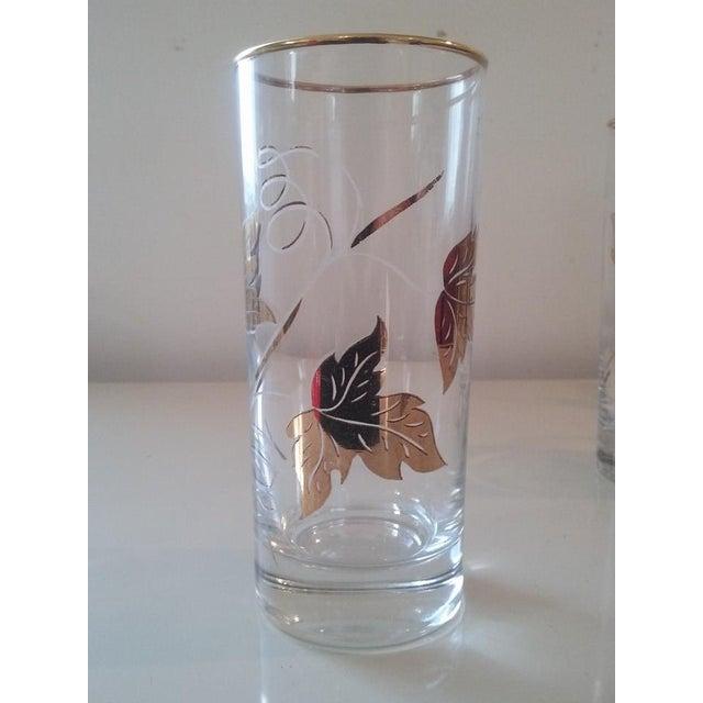 Elegantly Playful Gold White Glasses - Set of 6 - Image 4 of 4