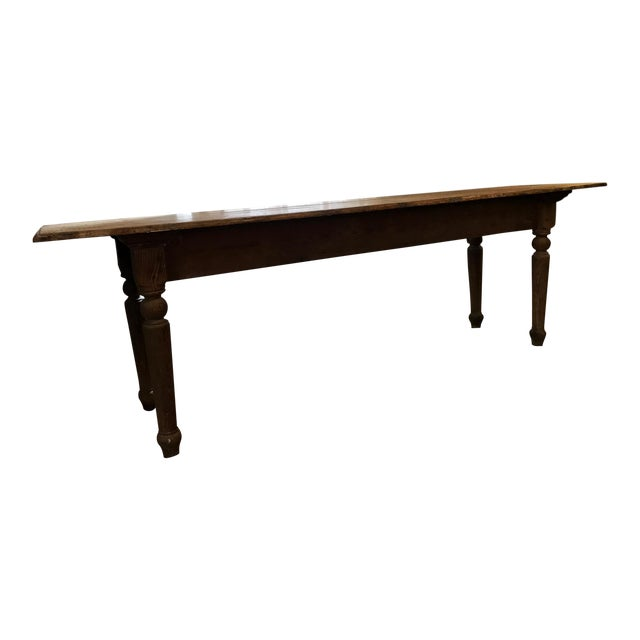 Antique Farmhouse Dining Table - Image 1 of 10