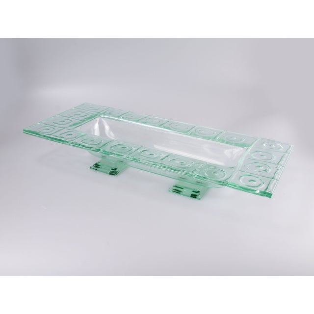 Image of Floating Green Glass Centerpiece Tray