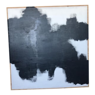 Black & White Abstract Painting on Plywood