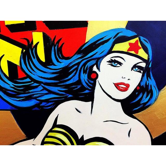 """Wonder Woman"" Original Acrylic Painting by Hatti Hoodsveld - Image 4 of 8"