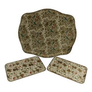 Japanese Paper Mache Trays - Set of 3