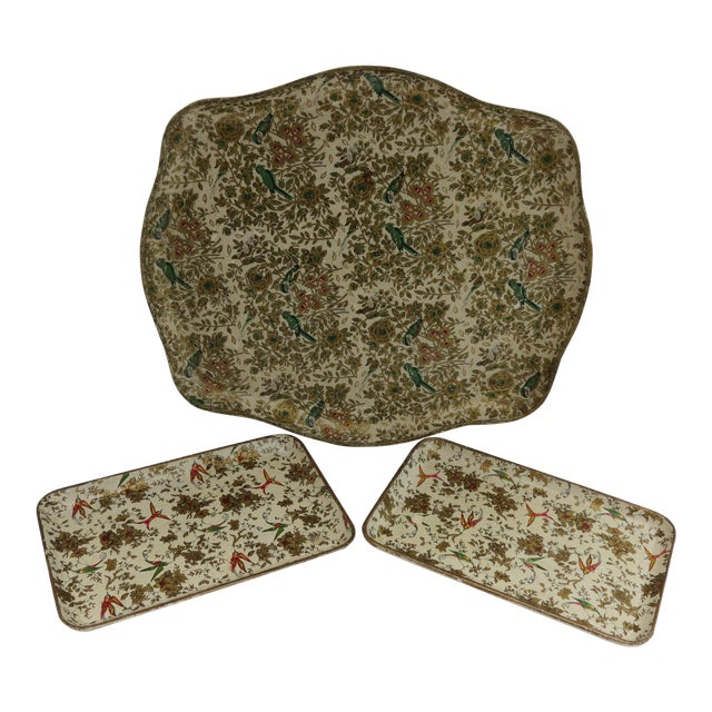 Japanese Paper Mache Trays - Set of 3 - Image 1 of 7