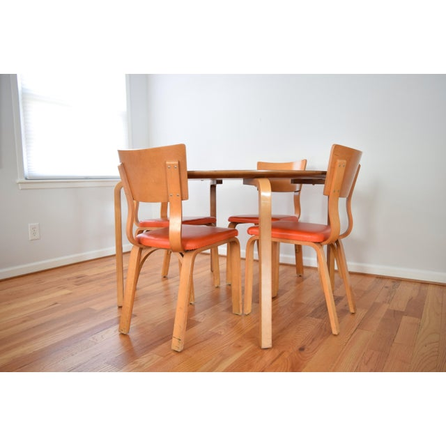 Mid-Century Thonet Bentwood Table & Chairs - Image 8 of 10