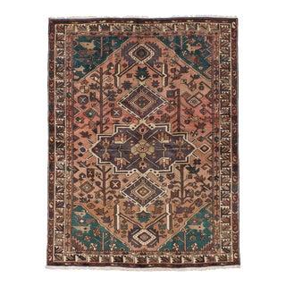 Vintage Persian Bakhtiari Handwoven Rug - 5′1″ × 6′11″