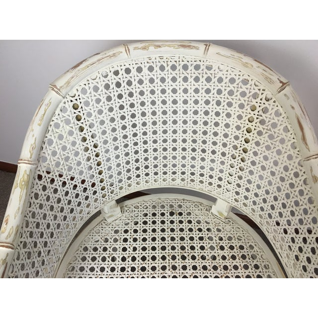 Vintage Faux Bamboo Rattan Chairs - A Pair - Image 8 of 8