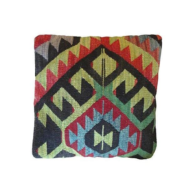 Vintage Kilim Accent Pillows - A Pair - Image 2 of 5