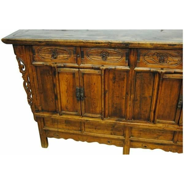 chinese 19 c hand carved sideboard chairish. Black Bedroom Furniture Sets. Home Design Ideas