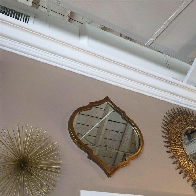 Gold Quatrefoil Metal Mirror - Image 2 of 6