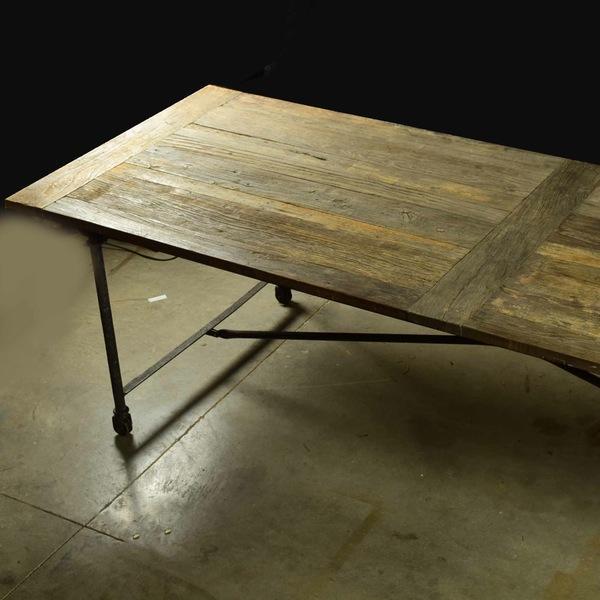 Image of Restoration Hardware Reclaimed Elm Dining Table
