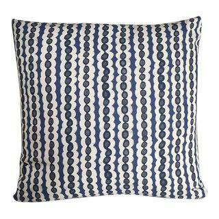 Kim Salmela Indigo Stripe Pillow