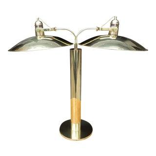 Mid-Century Water Von Nessen Double Light Lamp