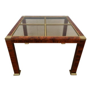 Modern Brass Accented Metal Coffee Table