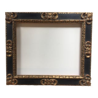 Great Vintage Picasso Style Carved Wood Frame