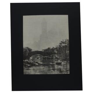 Photogravures by Edward Alenius, Central Park Lake