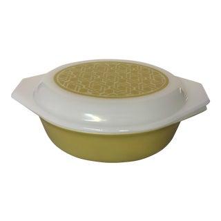 Vintage Pyrex Wicker Pattern Casserole Dish