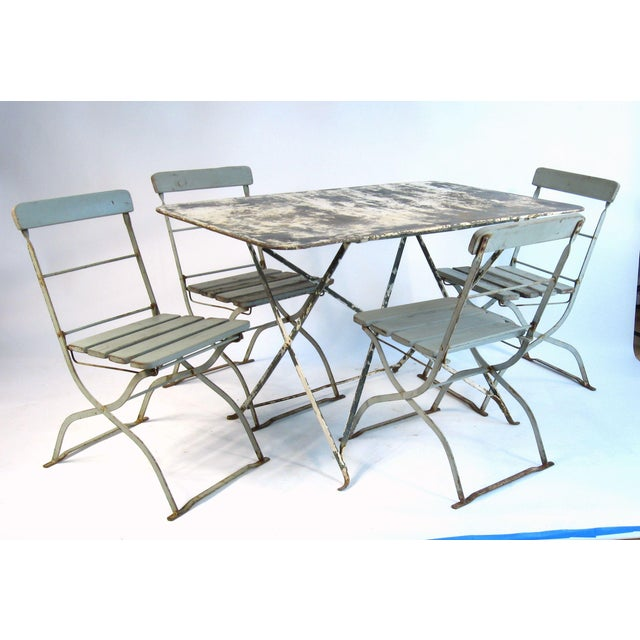Antique French Bistro Dining Set - Image 2 of 8