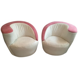 Vladimir Kagan Nautilus Swivel Chairs -  Pair