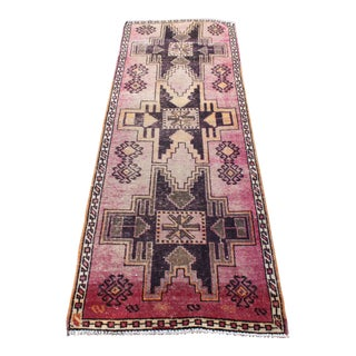 Antique Turkish Oushak Floor Runner Rug - 2′4″ × 6′11″