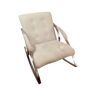 Milo Baughman Chrome Rocking Chair