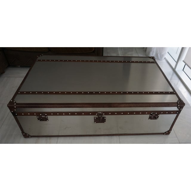 Restoration hardware mayfair steamer trunk extra large coffee table chairish Restoration coffee tables