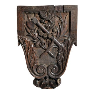 Hand Carved Crest from a Chateau