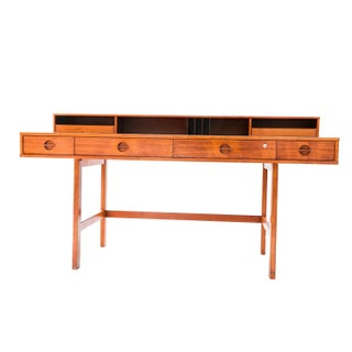 Peter Løvig Nielsen Danish Modern Teak Flip Top Desk