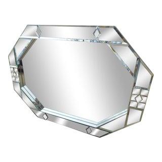 1977 Carol Canner Art Deco Carvers Guild Beveled Mirror