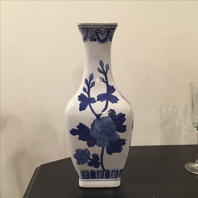 Blue and White Chinoiserie Vase - Image 2 of 5
