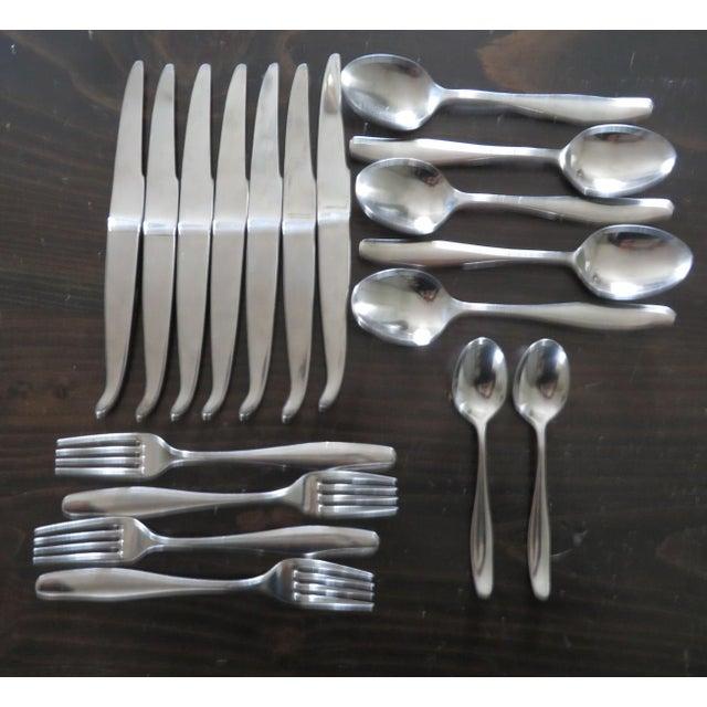 Achille castiglioni for alessi stainless steel flatware 18 pieces chairish - Alessi flatware sale ...