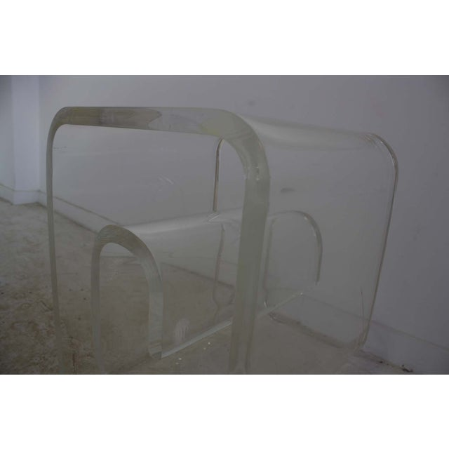 Lucite Spiral Side Table - Image 5 of 10