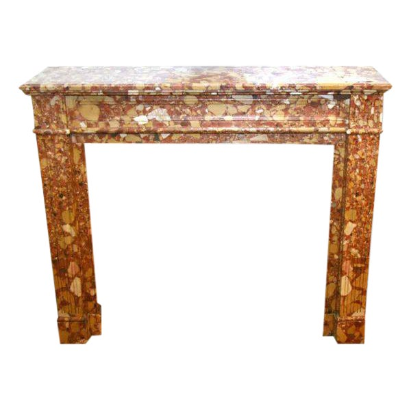 19th Century Louis XVI Breche D'alep Marble Mantel - Image 1 of 2