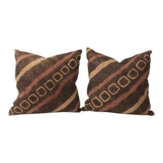 African Raffia Tie Dye Pillows - A Pair