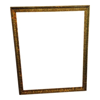 Over-Sized Large Vintage Gold Tone Carved Wood & Gesso Frame